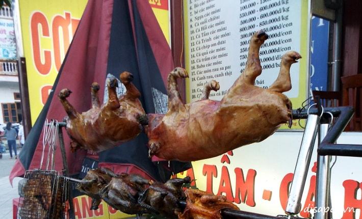 Lợn bản quay - ẩm thực Sapa